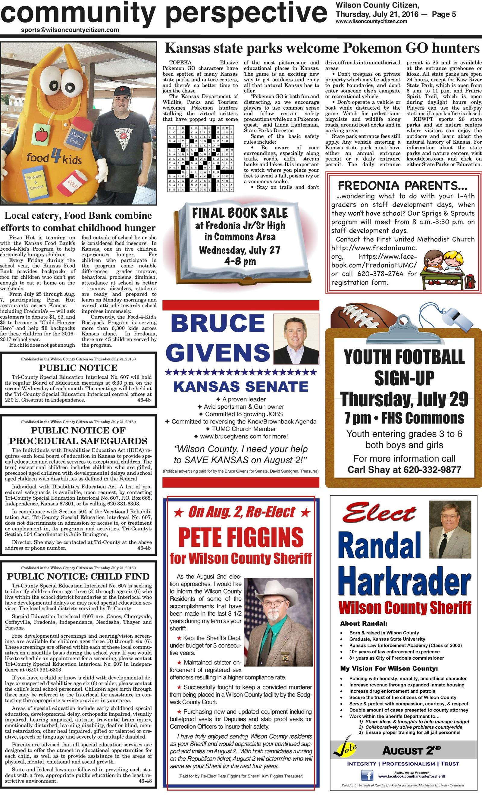 Wilson County Citizen July 21, 2016 To get started First tap on