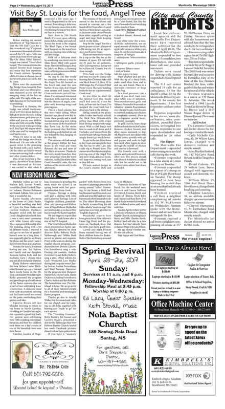 Lawrence County Press April 19, 2017 To get started First tap