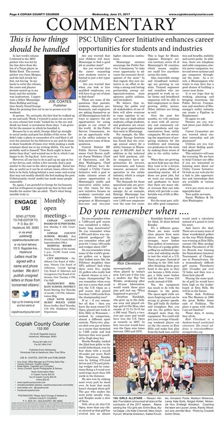 Copiah County Courier June 21 2017 To Get Started First Tap On Any