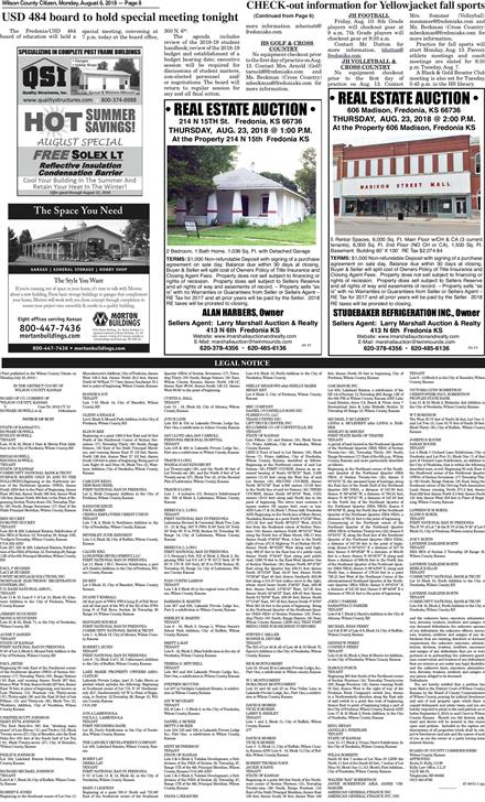 Wilson County Citizen August 6, 2018 To get started First tap