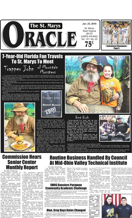St  Marys Oracle & Pleasants County Leader January 23