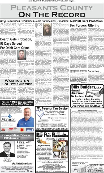 St  Marys Oracle & Pleasants County Leader April 20, 2019 To