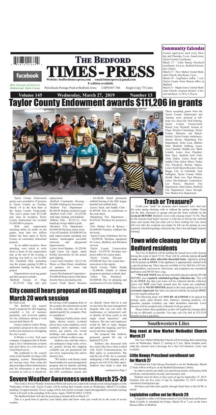 Bedford Times-Press Homepage – Page 2 – Bedford Times-Press